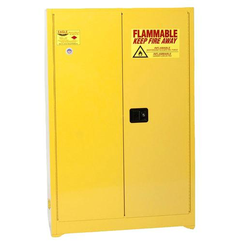 45 gallon flammable storage cabinet gallon flammable liquid safety cabinet self close doors yellow eagle 10 image 1 flammable liquid storage cabinet 45 gallon