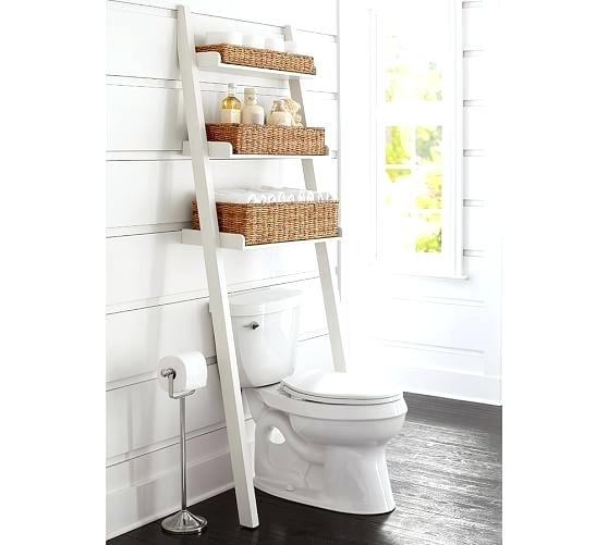 pottery barn cabinets bathroom over the toilet ladder with baskets pottery barn bathroom cabinet hardware