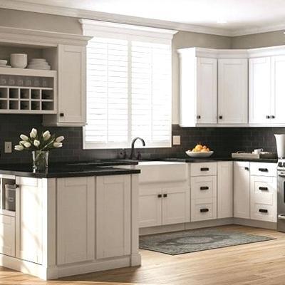 home depot prefab cabinets shop bay shaker satin white cabinets home depot canada prefab cabinets