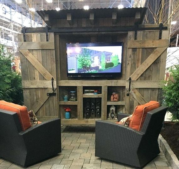 High Quality Outdoor Tv Cabinet Ideas Reclaimed Wood Rustic Outdoor Cabinet With By  Outside Tv Cabinet Ideas