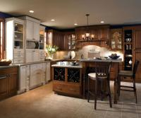 kemper echo cabinets cherry wood cabinets with a two level kitchen island by cabinetry kemper echo kitchen cabinets reviews