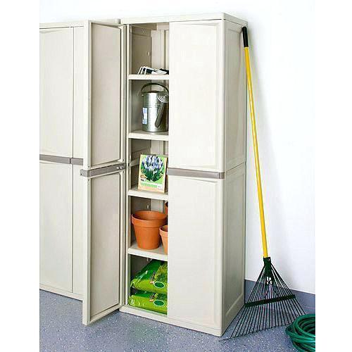 sterilite 01428501 4 shelf utility cabinet with putty handles platinum cabinets plus