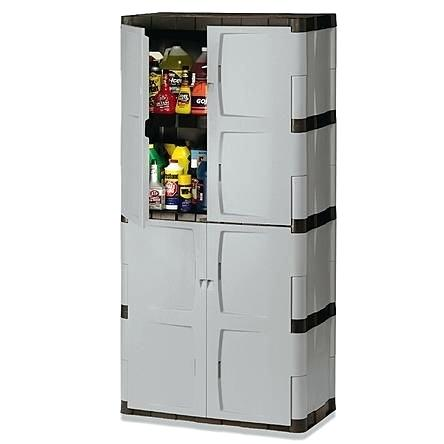 sterilite 01428501 4 shelf utility cabinet with putty handles platinum full double door cabinet cabinets for sale