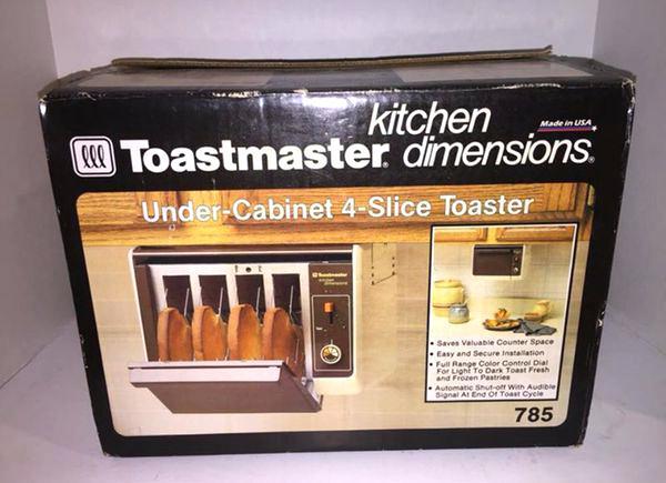 under cabinet 4 slice toaster vintage new toastmaster under cabinet 4 slice toaster household in ca toastmaster under cabinet 4 slice toaster