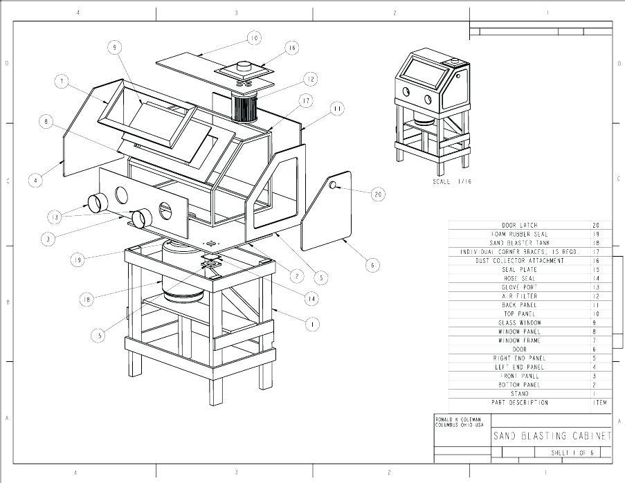 benchtop sandblast cabinet popular mechanics plans homemade sandblasting cabinet blueprints best benchtop sandblast cabinet