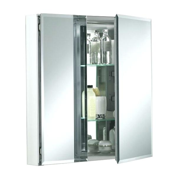 mirrored medicine cabinet lowes medicine cabinets co two mirrored medicine cabinet silver color recessed mirrored medicine cabinet lowes